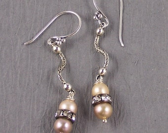 Peggy Sue got Married! Antique Ivory Pearls & Pave Crystals ~ Wedding Collection