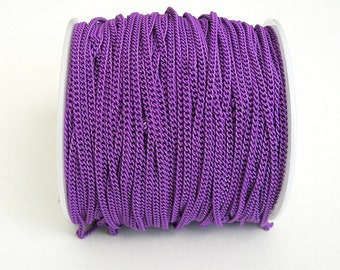 Dark Orchid Electroplated  Twist  Curbe Chain Colored Chain-15 ft.