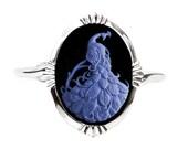 Peacock Cameo Bracelet Cuff - Gothic Jewelry
