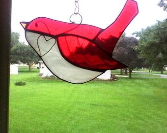 Ruby Red Love Bird