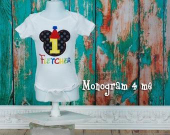 Mickey Mouse 1st Birthday Shirt Bodysuit