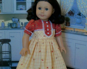 "PDF Sewing Pattern / Ruthie's Birthday Dress for American Girl ® Kit, Ruthie, Molly or other 18"" Dolls"