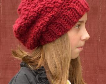 Crochet Chunky Slouch Hat Beanie Cloche