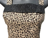 Cheetah print  apron