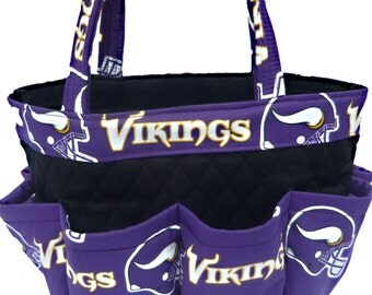 Minnesota Vikings Bingo Bag // Craft Organizer // Makeup Organizer // Caddy // Teacher Tote // Nurse Tote