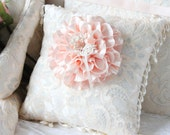 My Heart is Yours Heirloom Ring Pillow with Pearl Beading