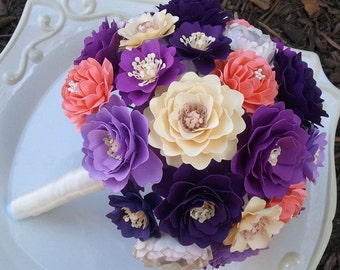 Paper Bouquet - Paper Flower Bouquet - Large Wedding Bouquet - Custom Made - Any Color