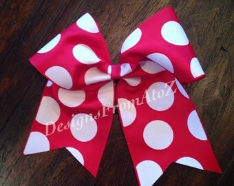 Red Dot Cheer Bow