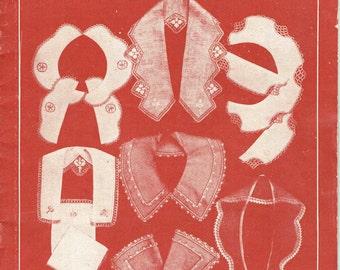 Vintage 1920s Crochet Patterns Anne Orr JP Coats Collars Cuffs Narrow Lace 19