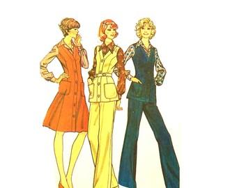 Vintage 1970s Complete Wardrobe Pattern Uncut Petite Plus Bust 40 42 Size 18.5 McCalls 4184