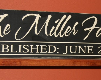 Personalized name Family Established Wood Sign- Vinyl Lettering wall words graphics Home decor itswritteninvinyl