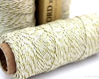 Natural and Gold Metallic Hemp Cord, 1mm 20lb Polished Hemp Craft Cord