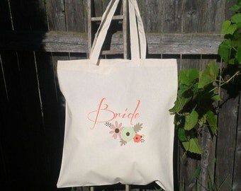 Bridesmaid Gift Bags - Welcome Bags for Wedding - Bow with name and date - Bride