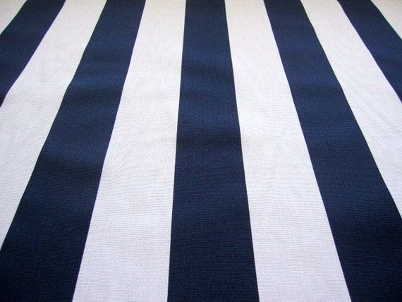 decorator fabric navy blue and white vertical stripe. Black Bedroom Furniture Sets. Home Design Ideas