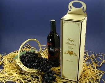Wood Wine Box or Wine Caddy Personalized by You