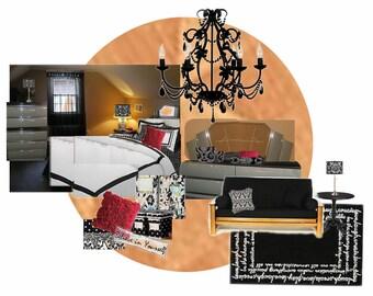 Virtual Decor Re Design Teen Bedroomvintage Decor Re Design Virtual Room Design E Design Interior Design Service