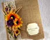 Sunflower Wedding Album, Wedding Scrapbook, 8x10 Photo Album, First Anniversary Gift