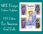 "PDF Download MHD Designs ""Simplicite"" Petal Dress, Rompers and more Fashion Pattern for American Girl Dolls"
