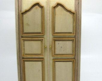 Miniature dollhouse furniture unfinished cabinet   - code VMJ 1110