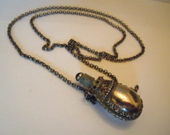 Vintage Etruscan Bottle Necklace