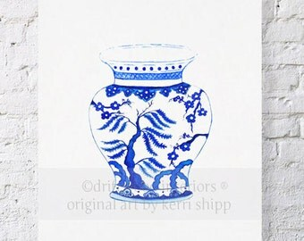 Blue Willow in Ming Print