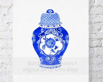 Ginger Jar in Cobalt 11x14