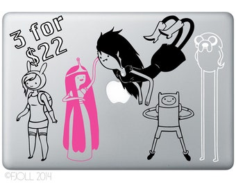 Any 3 Adventure Time Decals For 22 Dollars