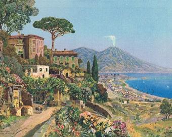 Mount Vesuvius Arneyger Calendar Art Print