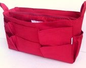 Extra Tall XL size Purse organizer - Bag organizer insert in Rust fabric