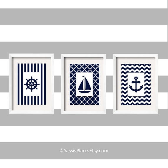 Nautical Nursery Decor Sailboat Nursery Decor Anchor Decor