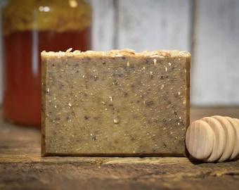 Organic Soap, Honey Oat Bar