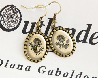 Scottish Thistle - Hanging Earrings