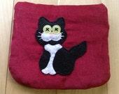 Tuxedo Cat, Small Pouch