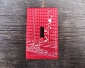 Upcycled / Recycled Light Switch Plate
