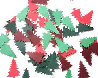 100 Christmas Evergreen Tree punch die cut confetti scrapbook embellishments - No557