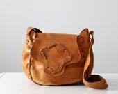 1970s leather purse, vintage boho bag