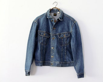 1970s Lee denim jacket,  Lee PATD-153438, vintage jean jacket,