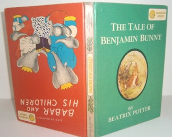 Babar and His Children / The Tale of Benjamin Bunny Double Sided Book 1938