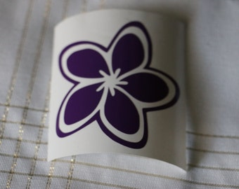 Plumeria Flower Vinyl Decal