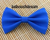 Surf Blue Fabric Hair bow for teens or women,girls hair bows,basic hair bows , Hair Bows