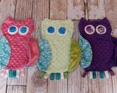 Owl Minky Tag Lovie