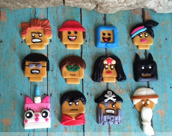 EDIBLE (Fondant Toppers) - Lego Movie Inspired