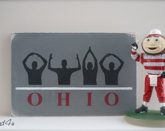 Ohio State Wall Art ohio state buckeyes wall art | etsy