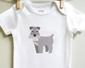 Schnauzer baby clothes, schnauzer baby bodysuit