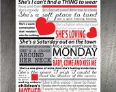 She's everything to me by Brad Paisley, Poster, 11 x 17 lyric print