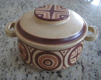 Georges Briard Lidded Stone Ware Crock - Made in Japan