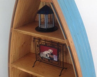 Boat Bookcase, Height 54 inches, 4 shelves, Choice of Color