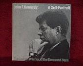 CRAZY CUPID SALE John F. Kennedy -  A Self-Portrait - 1964 Vintage Vinyl 2 lp Gatefold Record Album