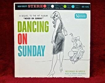 DANCING ON SUNDAY - Original Motion Picture Soundtrack - 1961 Vintage Vinyl Record Album
