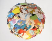 The Manhasset Children's Book Pendant Light - Hanging Artichoke Paper Lantern - Shade Only